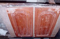 Restauration de portes d 39 armoires de cuisine en bois massif m lamine stratifi thermoplastique - Reparation de porte en bois ...